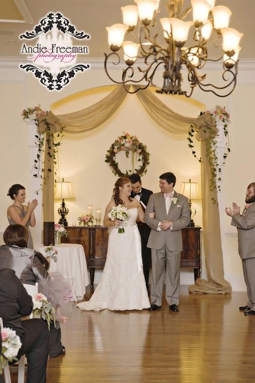 Indoor Wedding Ceremony thompsonhouseandgardens.com